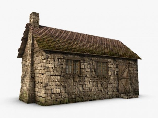 Old Stone Cottage 3d Model Old Cottage Stone Cottage Old Stone