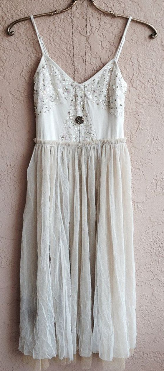 Romantic bohemian gypsy goddess French chic Nude