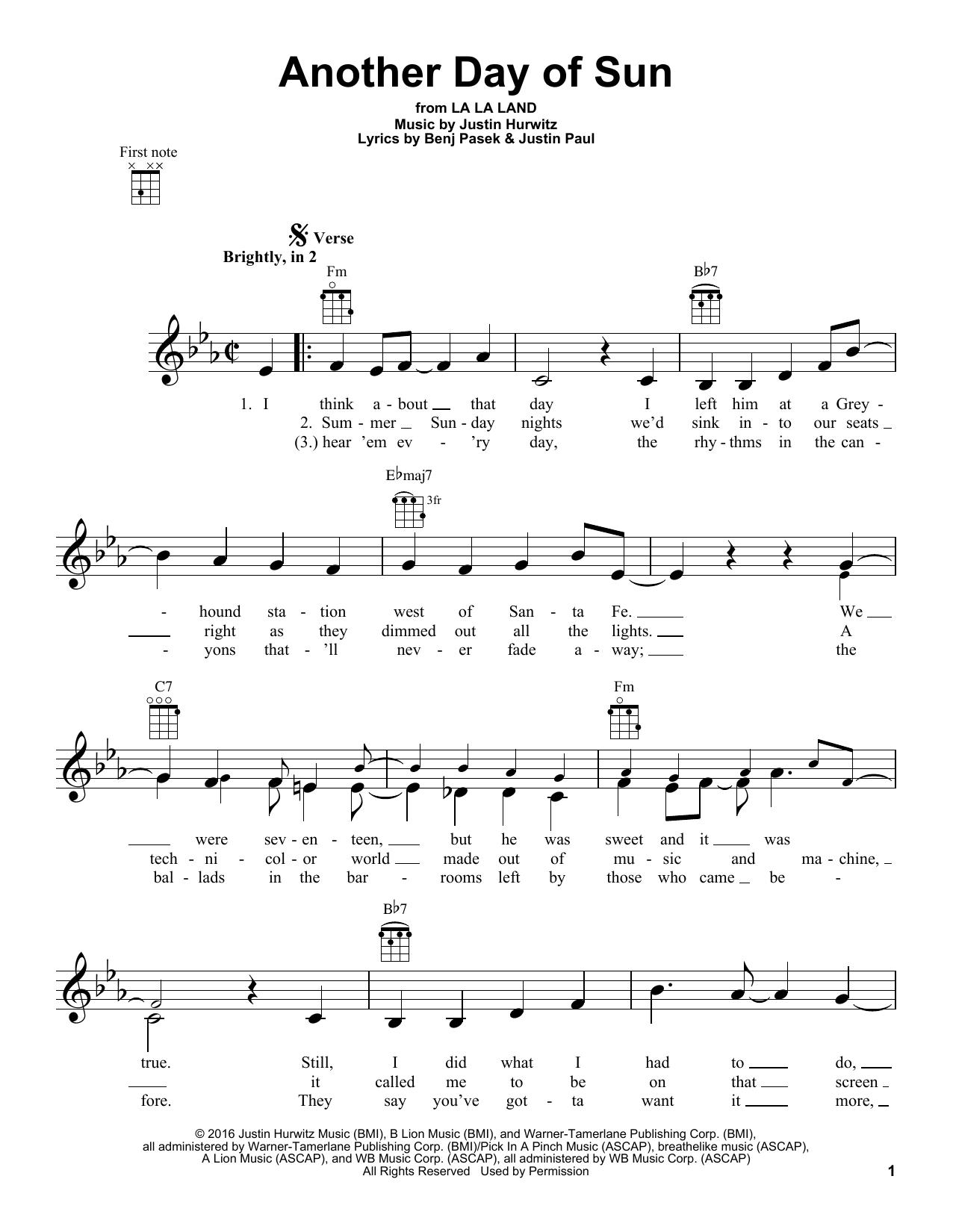 La La Land Cast Another Day Of Sun From La La Land Sheet Music Notes Chords Sheet Music Sheet Music Notes Music Notes