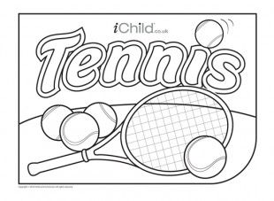 tennis coloring book pages - photo#19