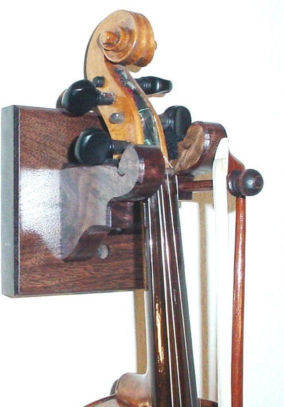 oak wooden violin bow hanger wall mount display music violin violin bow wall hanger. Black Bedroom Furniture Sets. Home Design Ideas