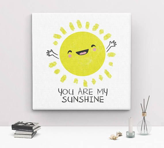 You Are My Sunshine Wall Art, canvas art print, nursery wall art ...