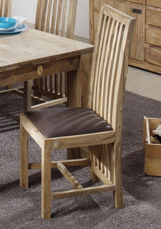 Sheesham Massivholz Stuhl Palisander Möbel NATURE BROWN #802 Jetzt - stühle für die küche