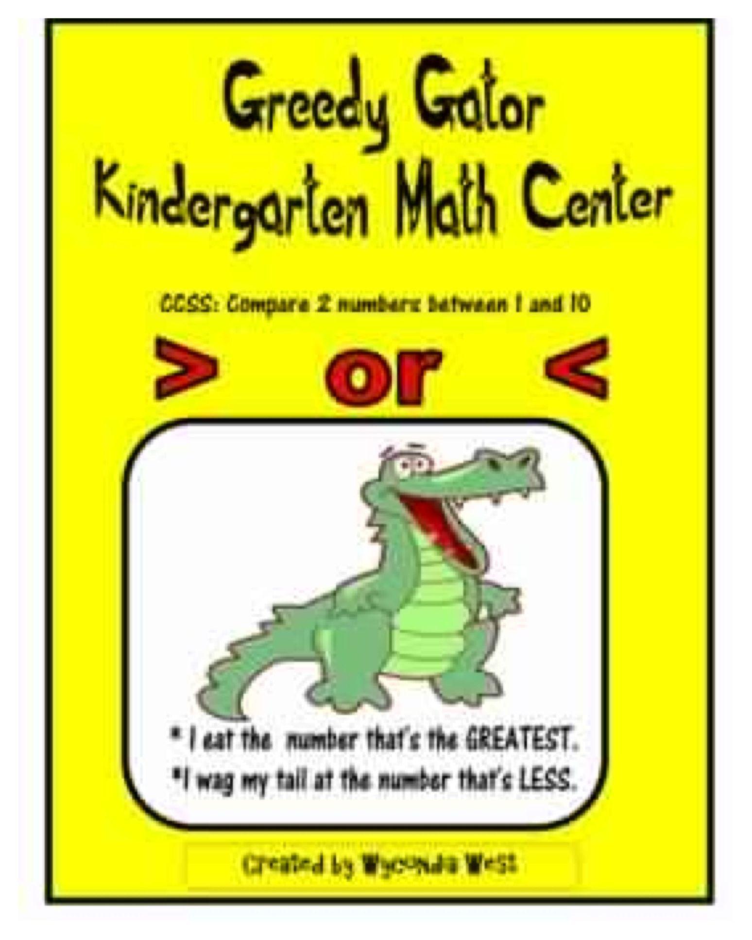 Use Greedy Gator Math Center To Help Early Elementary