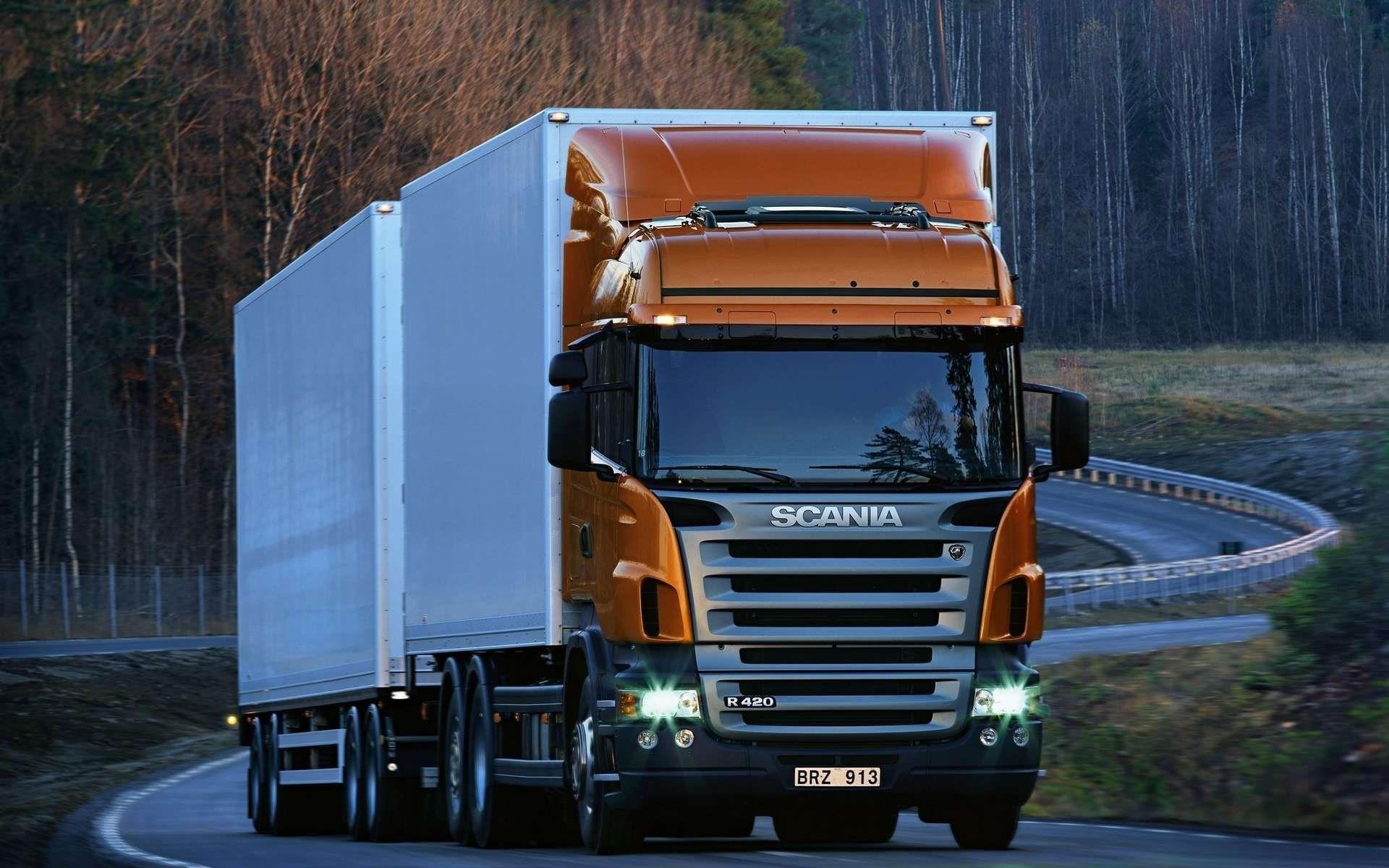 Heavy scania truck