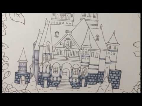 Tutorial Romantic Country Coloring Book Color With Me Romantic Country Coloring Books Romantic