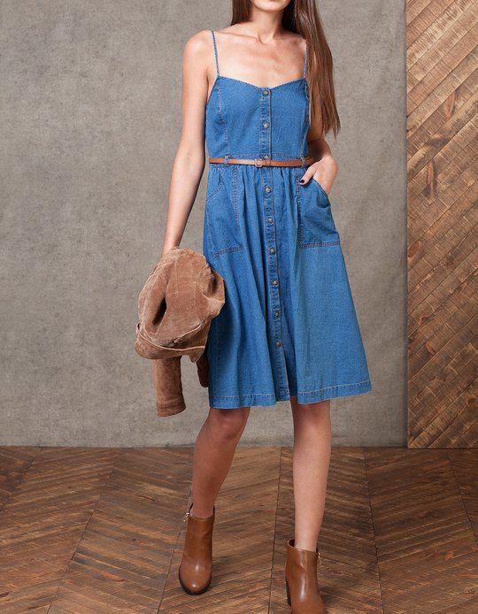 79| W Stradivarius znajdziesz 1 Denimowa sukienka na ramiączkach dla pań za jedyne 79.99 PLN . Odwiedź nas i odkryj tę oraz inne oferty w dziale SUKIENKI.