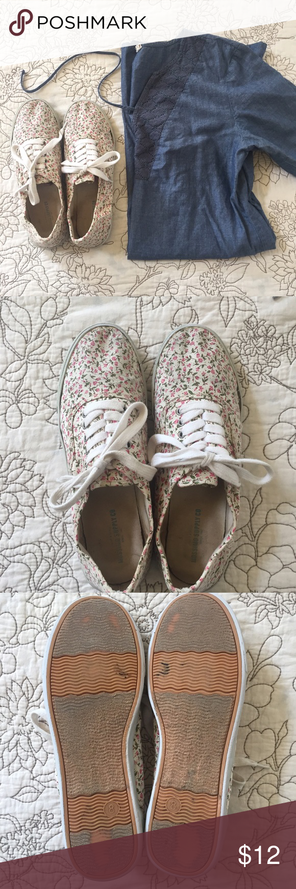 80735c55cc Mossimo Floral Lace-Up Shoes - 8 Super comfy cross between Keds and Vans
