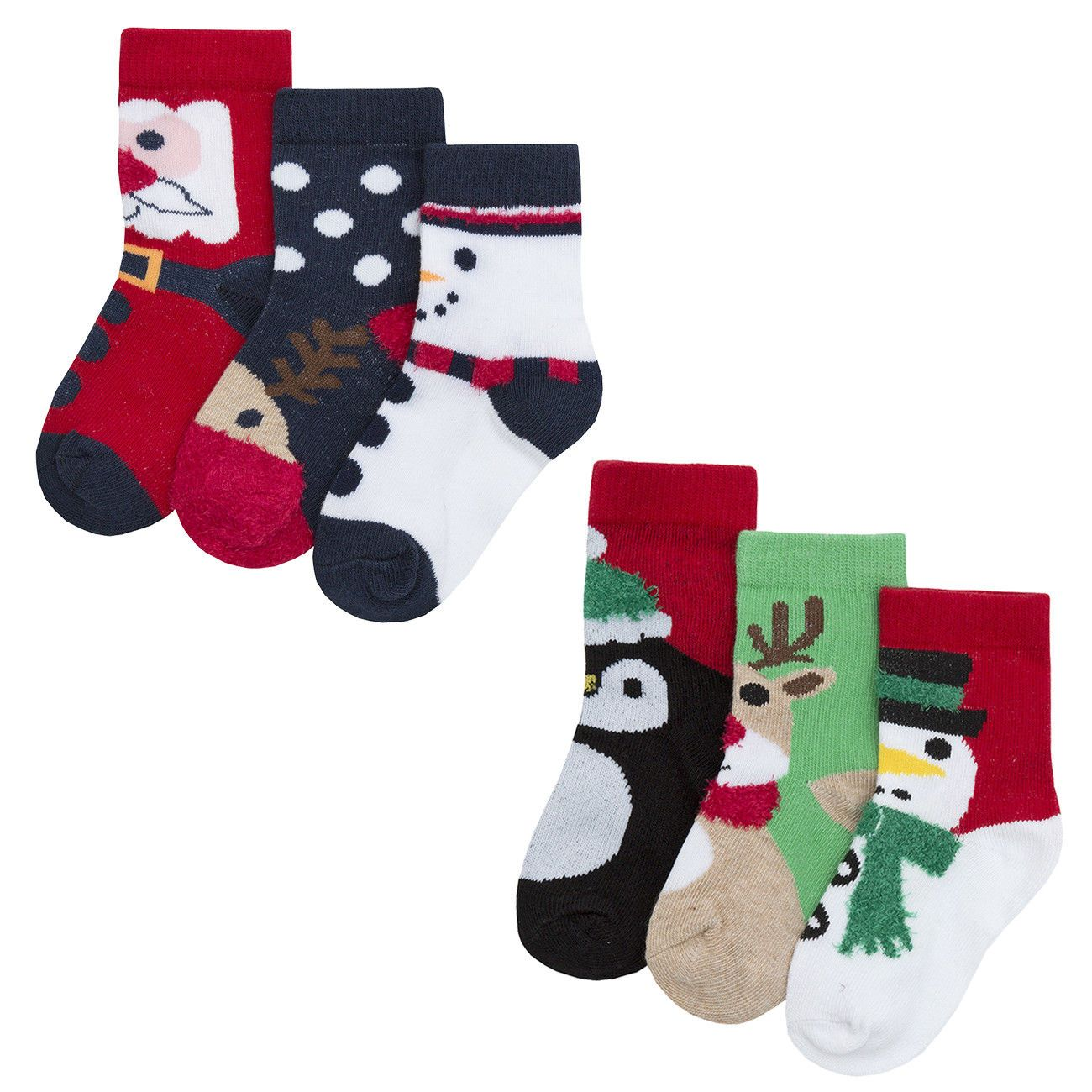 Babies Baby Boys Girls Novelty Christmas Socks Stocking Filler Cotton Rich Xmas