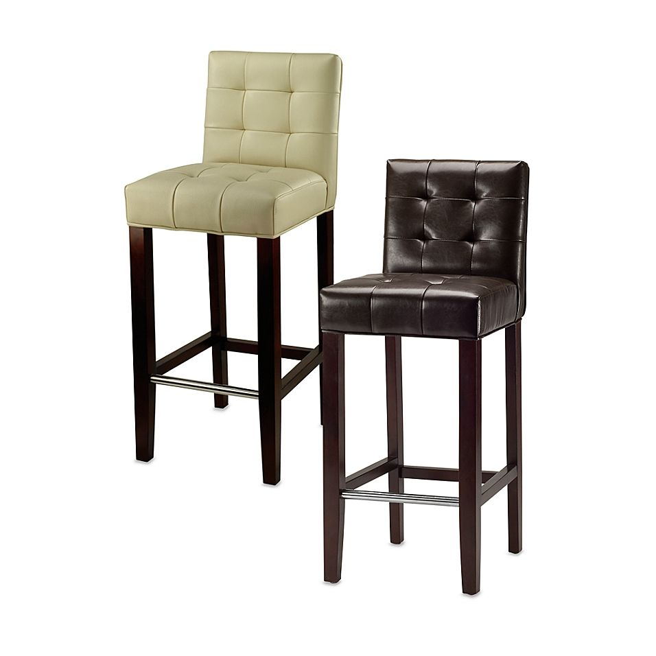Safavieh Mercer Modern Thompson Leather Bar Stool In Brown
