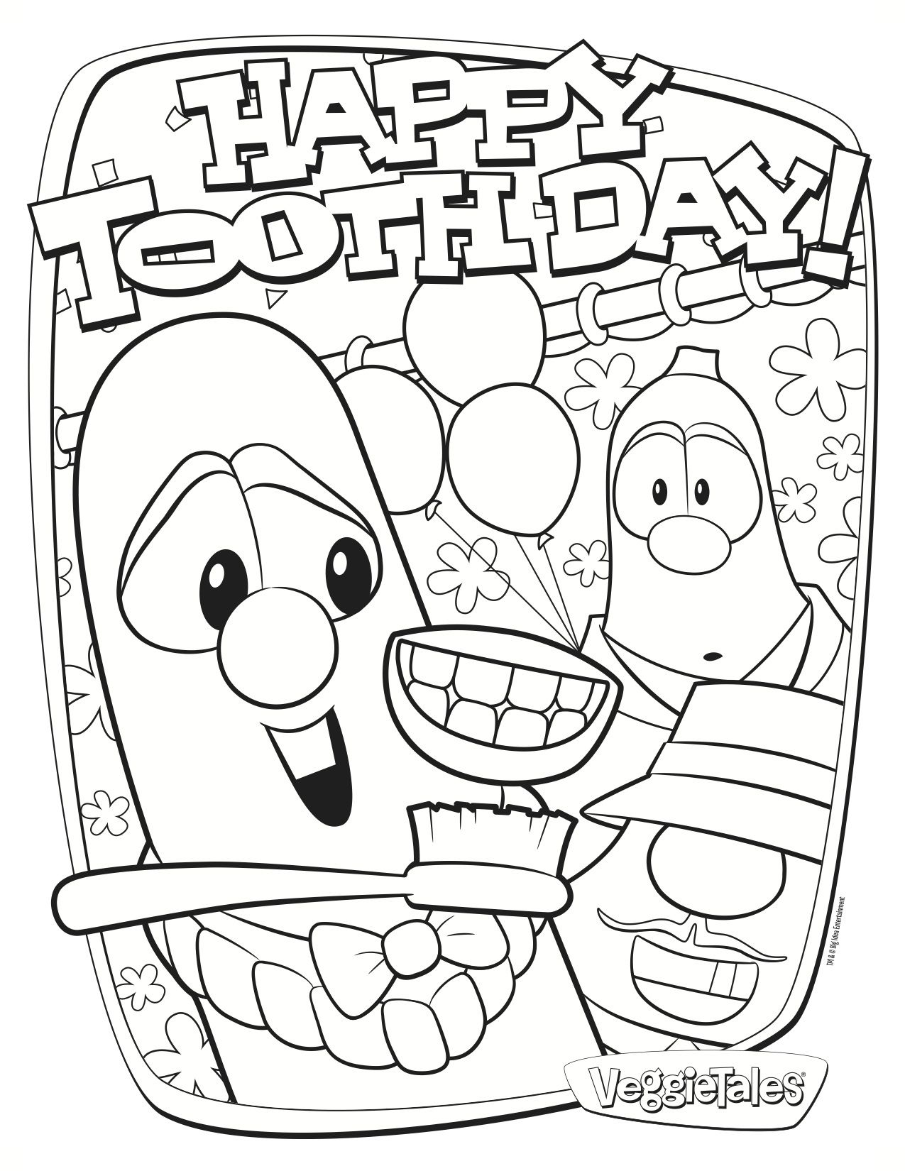 Free Coloring Page Featuring The Silly Song Happy Tooth Day