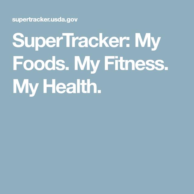 Supertracker My Foods My Fitness My Health Food Tracker
