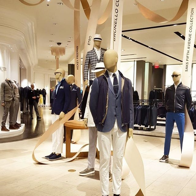 """SAKS FIFTH AVENUE, New York, """"We start each collection thinking how we can refresh the classics"""", pinned by Ton van der Veer"""