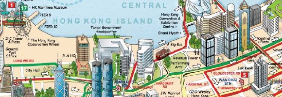 Hong Kong Big Bus Map Travel Hong Kong Pinterest Bus map and