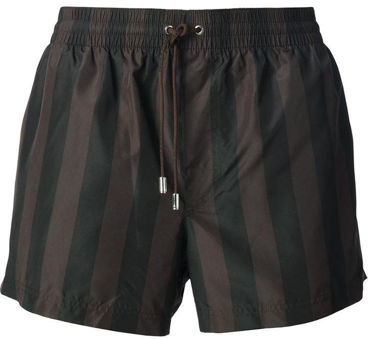 Dolce & Gabbana striped swimming shorts