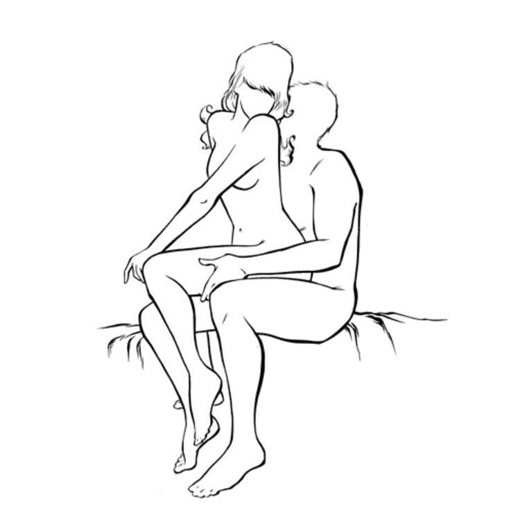 The hot seat sex position