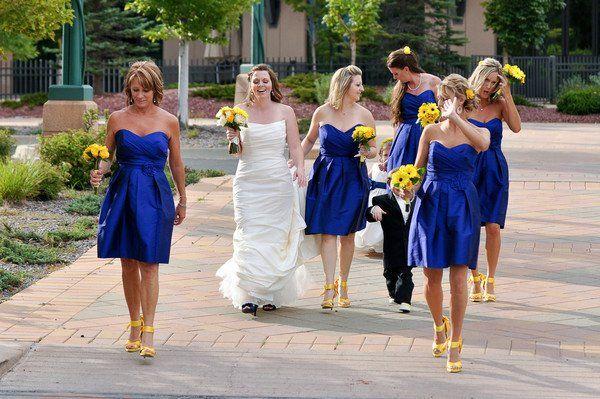 Blue bridesmaid dress yellow shoes   My best dresses   Pinterest ...