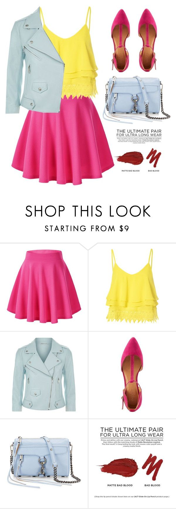 """""""///"""" by lurkia ❤ liked on Polyvore featuring Glamorous, Rebecca Minkoff, Charlotte Russe and Urban Decay"""