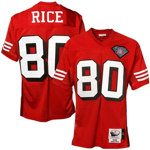 separation shoes ba906 c00fa Mitchell & Ness Jerry Rice San Francisco 49ers 1994 ...