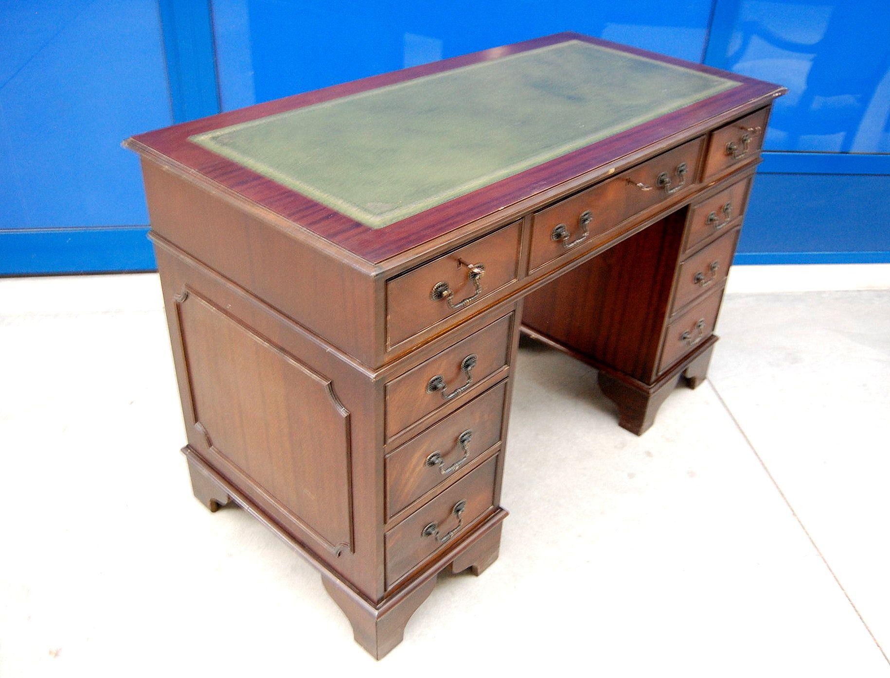 fabulous scrivania in stile nautico in mogano inglese con cassetti laterali fronte cm with scrivanie stile inglese