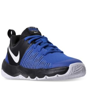 f862d8838d3e Nike Boys  Team Hustle Quick Basketball Sneakers from Finish Line - Blue 6.5