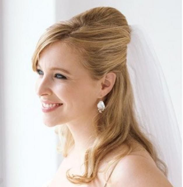 Classic Inspired Wedding Hairstyle With Veil For Today Fashion The Classic Look Medium Length Hair Styles Wedding Hairstyles For Long Hair Short Wedding Hair
