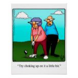 Funny Golf Humor Poster Gift | Zazzle.com #golfhumor