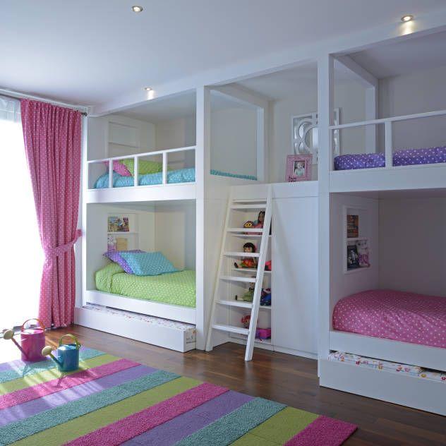 Habitaciones infantiles con almacenaje habitaci n for Recamaras para ninas adolescentes
