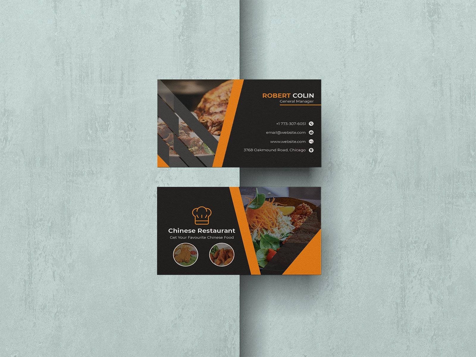 Chinese restaurant business card restaurant business