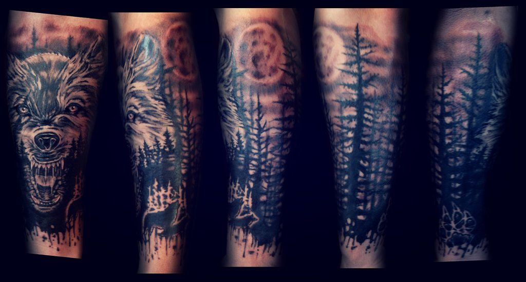 wolf half sleeve by karlinoboy.deviantart.com on ...