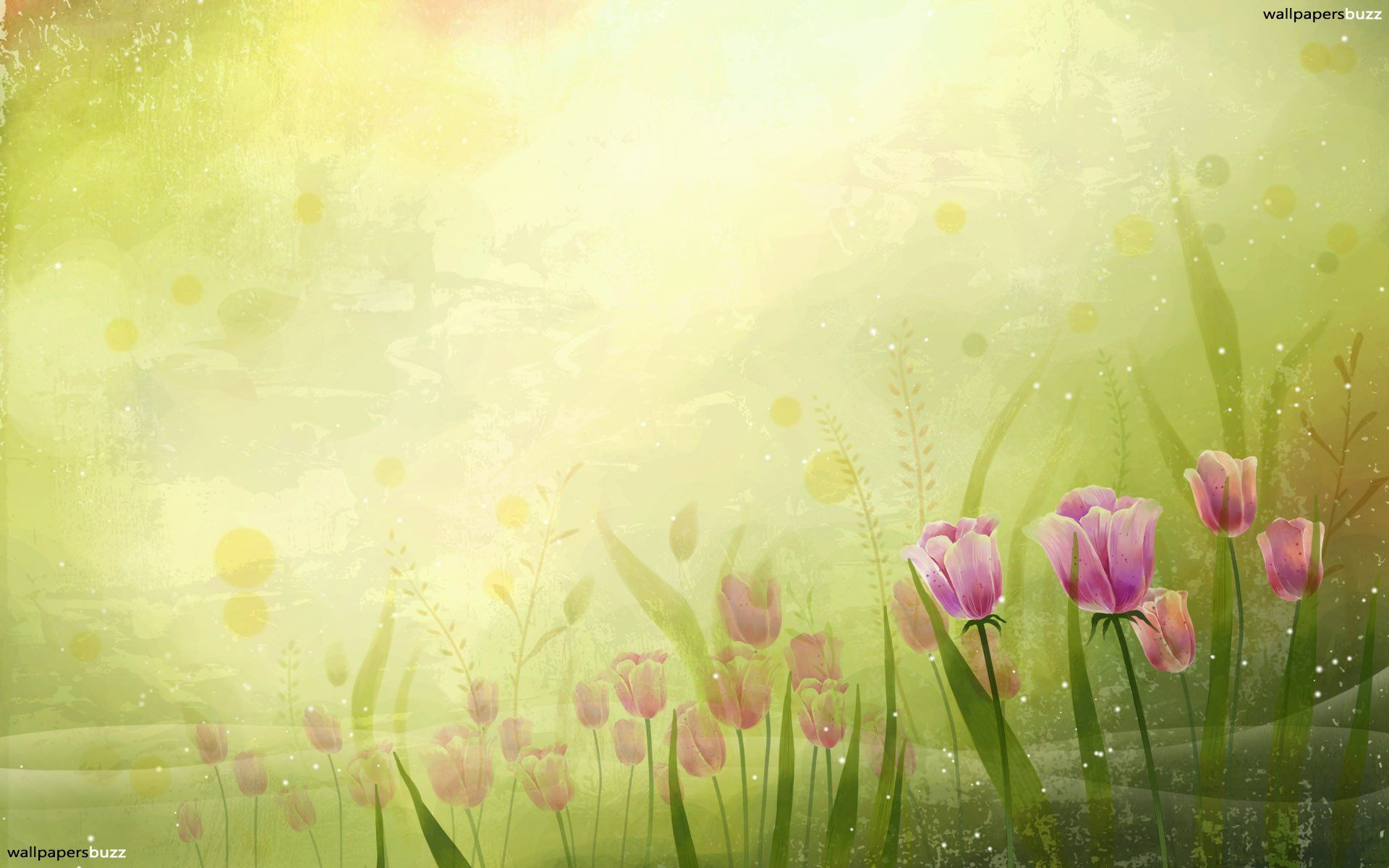 Abstract Tulips Wallpaper