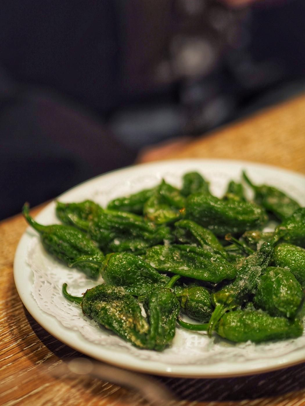 Padrón peppers at Paco Meralgo in Barcelona.