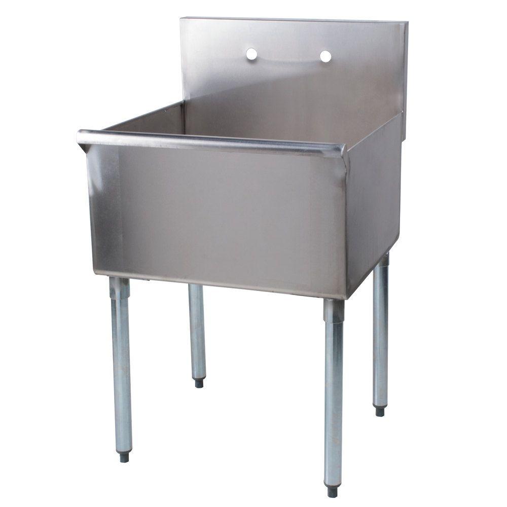 Regency 24 16 Gauge Stainless Steel One Commercial Sink