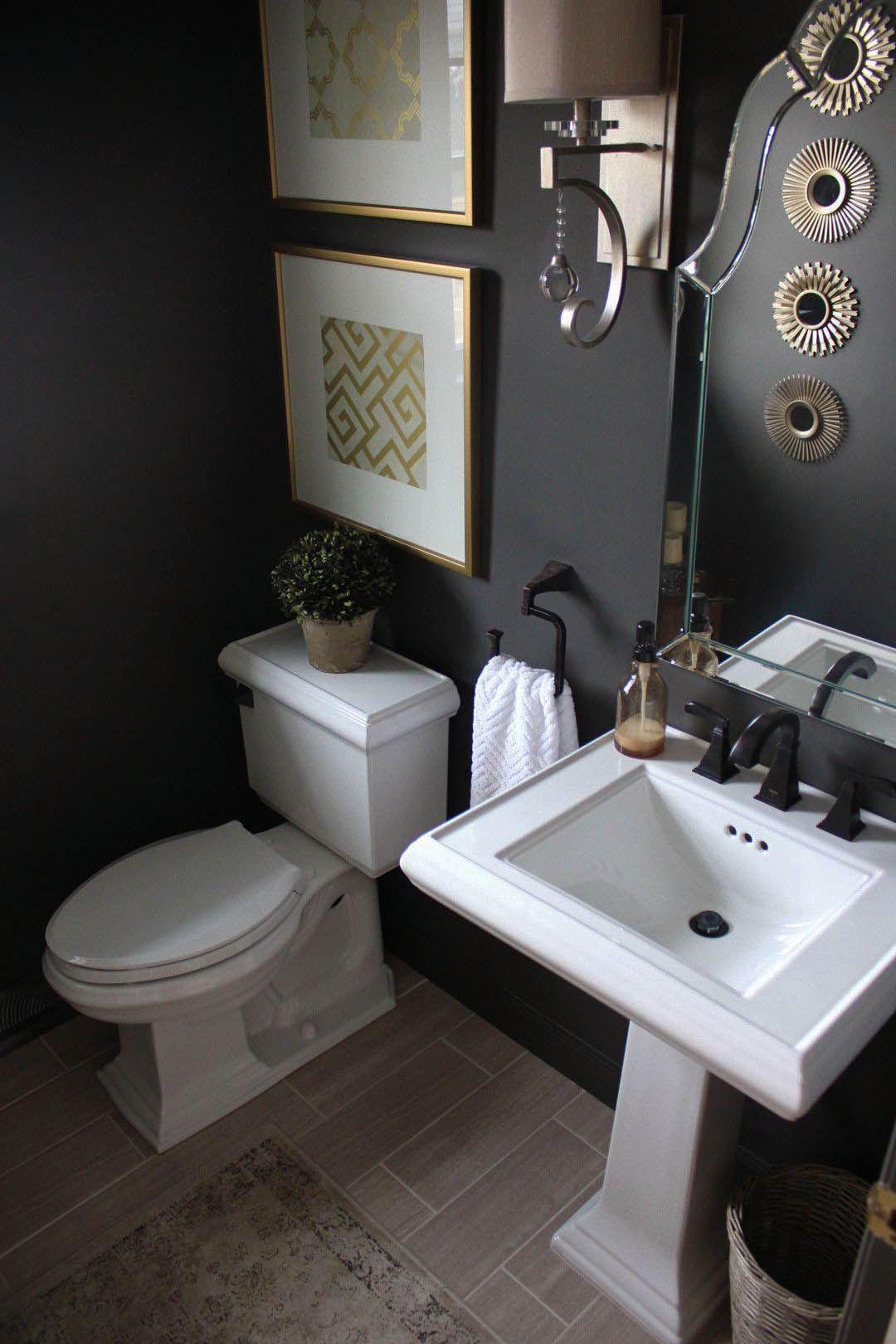 10 Pretty Powder Rooms In 2020 Powder Room Decor Black Powder Room Powder Room Remodel