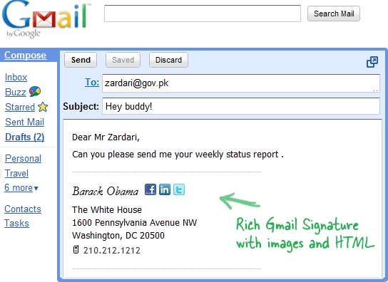 How To Add Html Signatures In Gmail Email Signature Templates Best Email Signatures Html Signature