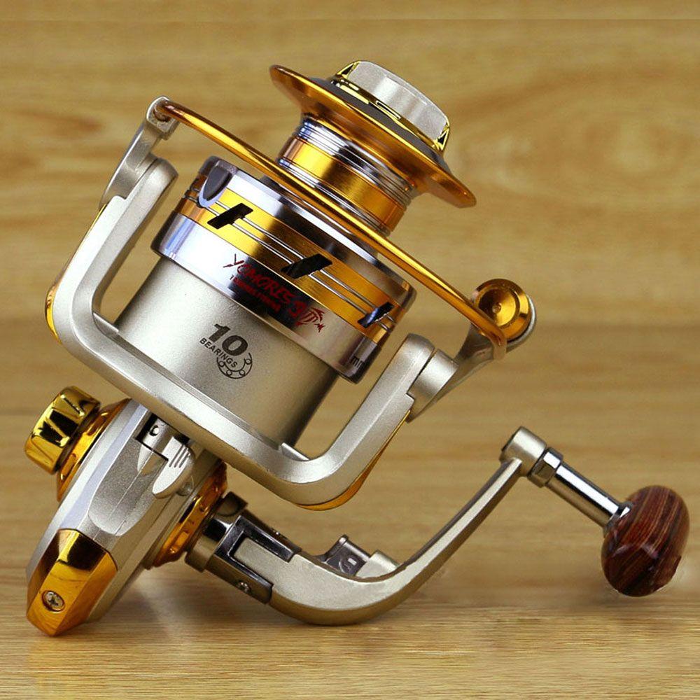 새로운 품질 안티 해수 부식 낚시 릴 EF1000-7000 10bb 5.5: 1 금속 잉어 낚시 휠 회전 낚시 릴 스풀