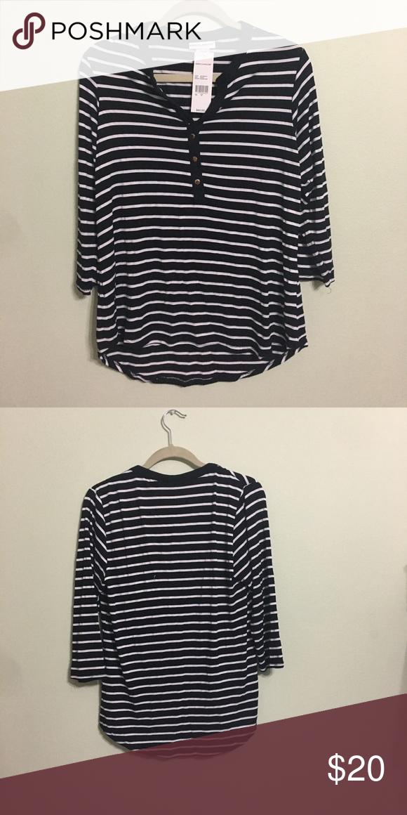 bda788e8147 Black and White Rebecca Malone Shirt NWT Brand new! 3 4 sleeves