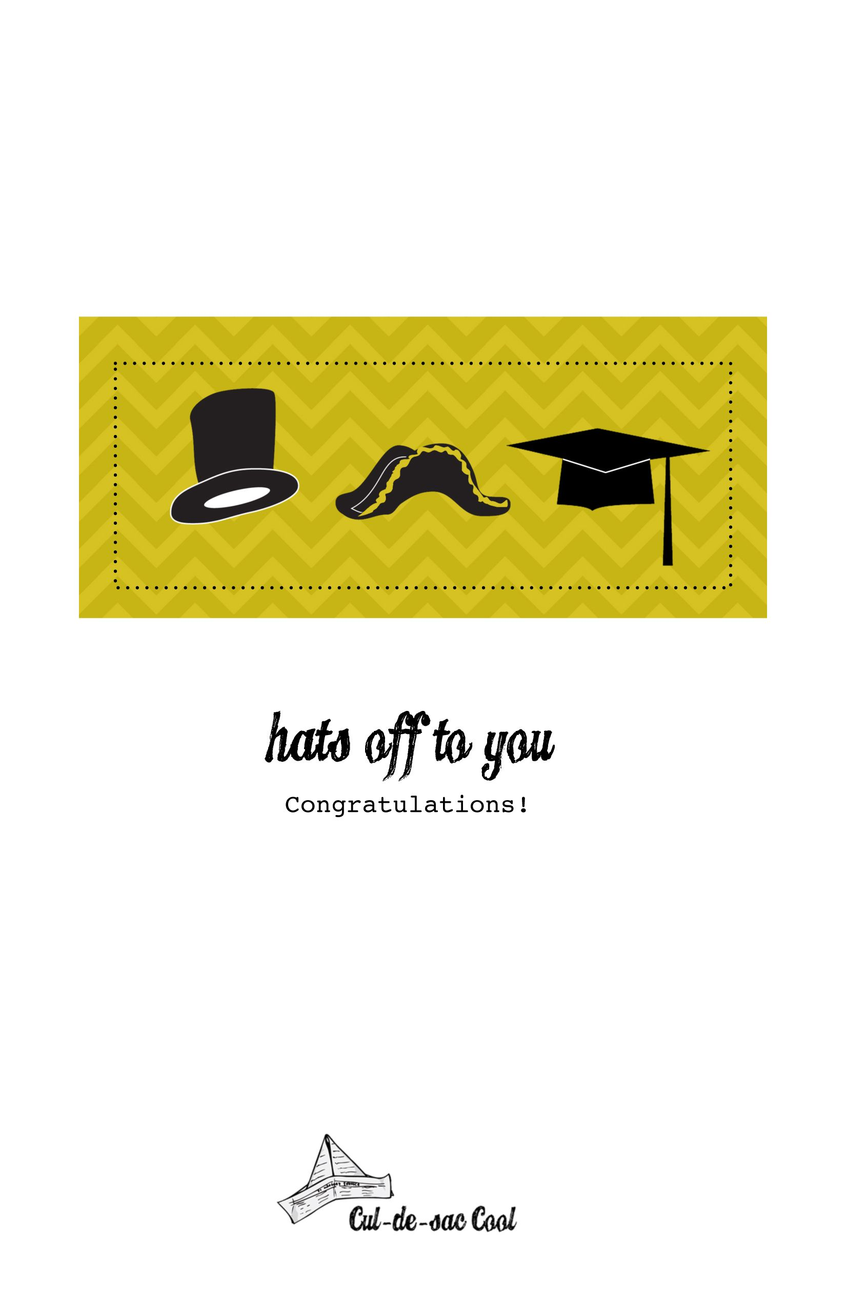 image relating to Printable Graduation Cards identified as Do-it-yourself Printable Commencement Card Myriad of Printables