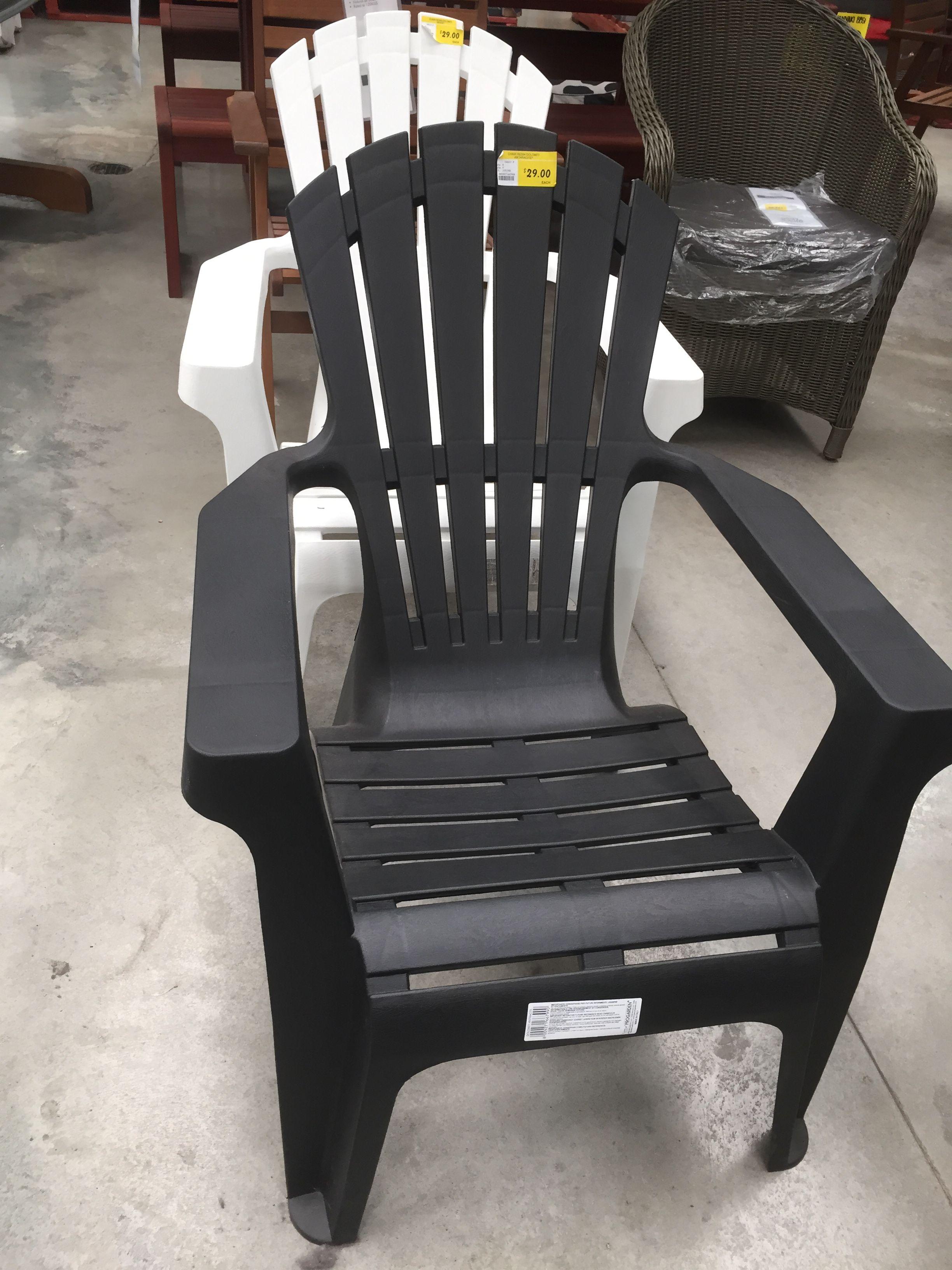 Bunnings Resin Adirondack Chairs. Black White
