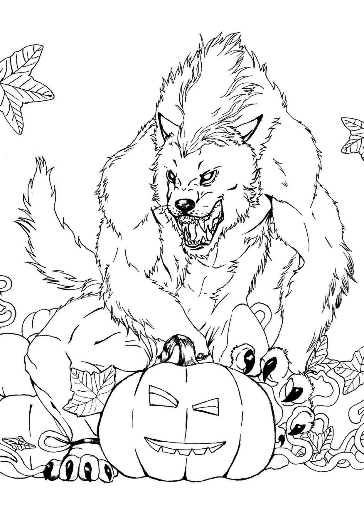 30 Disegni Spaventosi Di Halloween Da Colorare Pagine Da