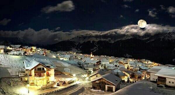 Night time in Austria