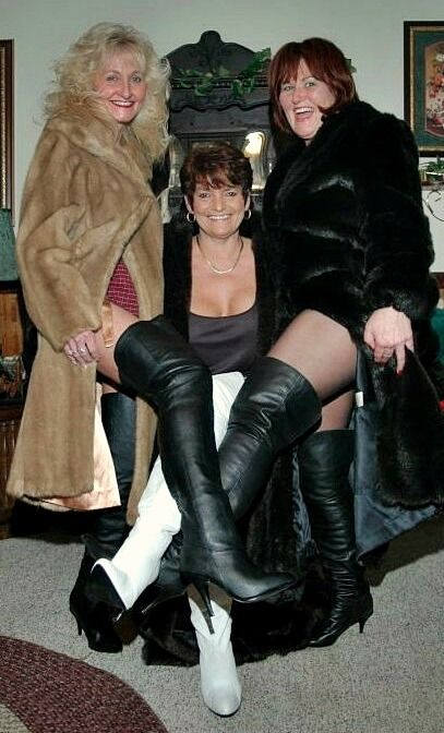 Thighboots naked 5