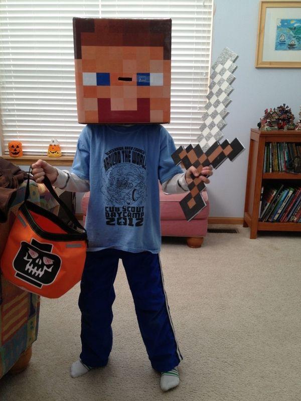 steve minecraft costume halloween costume ideas for kids