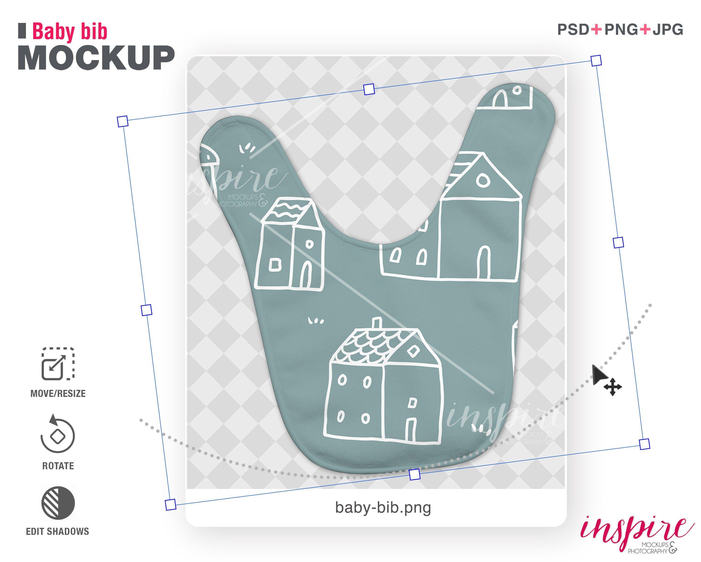 Double Baby Bib Psd Mockup Psd Smart Object Layers Add Etsy In 2021 Baby Bibs Psd Mockup