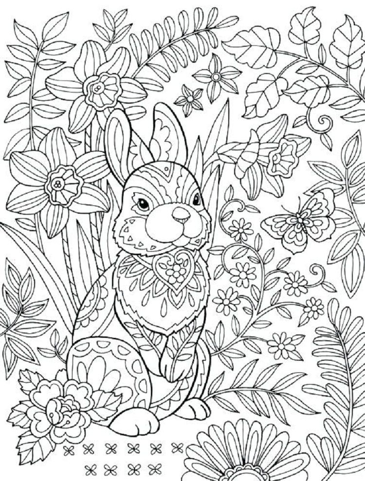 Hard Rabbit Coloring Pages Bunny Coloring Pages Free Easter Coloring Pages Easter Coloring Pages