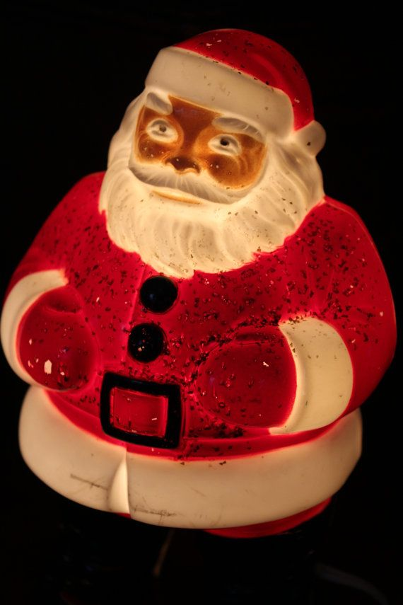 cd6537c828e4a 1950s Light up Santa Claus Plastic Mold Vtg Saint by TalesofTime ...