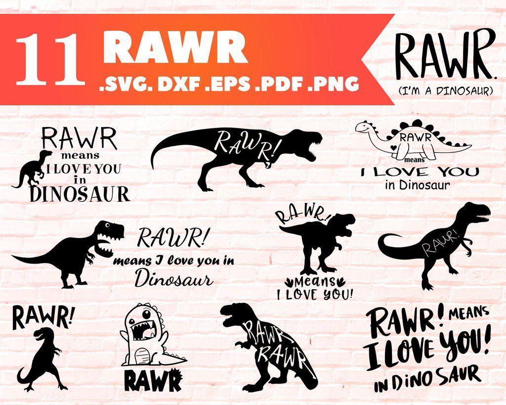 Download RAWR SVG, Rawr Means I Love You In Dinosaur SVG, Dinosaur ...
