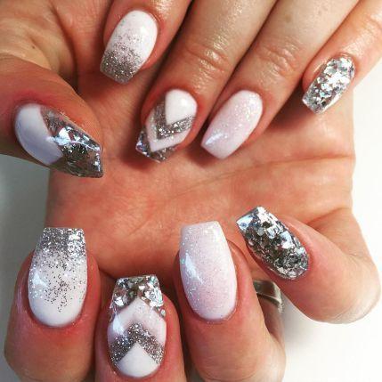 New Metallic Nail Art Design Trends 30 | Using Acrylic Nails ...