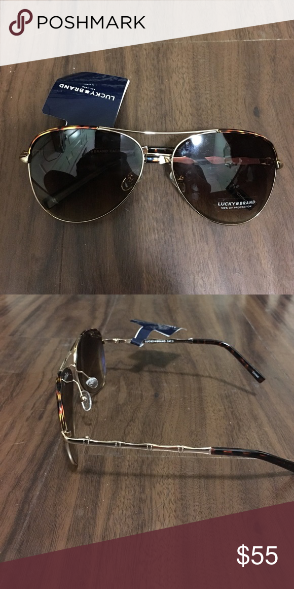 c7fbeeac782c9 Lucky Brand aviator sunglasses Never worn Lucky Brand aviators Lucky Brand  Accessories Sunglasses
