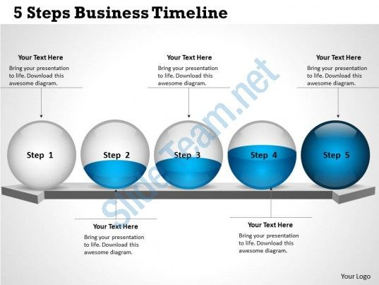 0314 Business Ppt Diagram 5 Steps Business Timeline Powerpoint